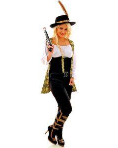 Ladies Pirate Caribbean Costume Find The Treasure Teen Fancy Dress Pink Angelica