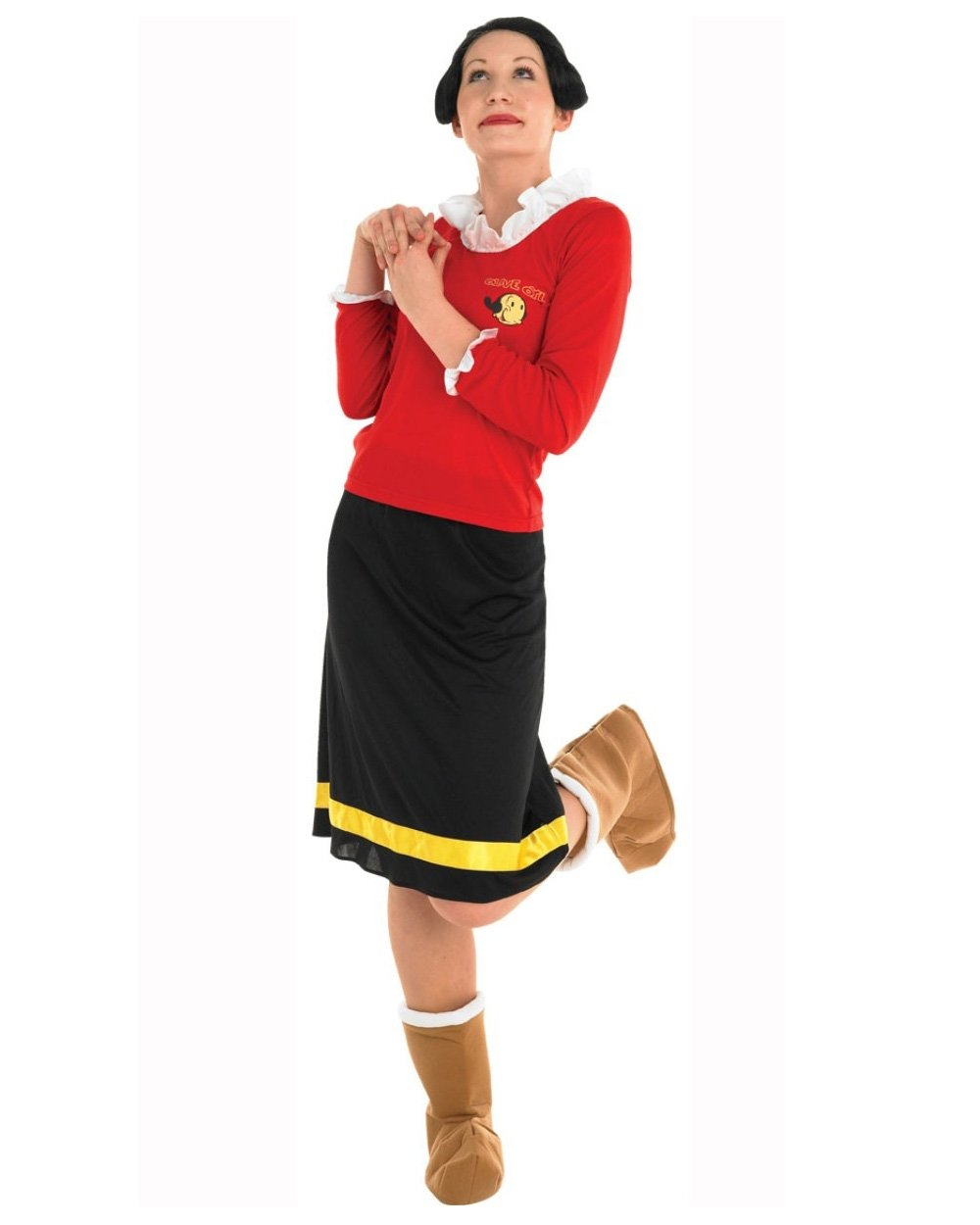 Ca642 licensed women olive oyl popeye cartoon fancy dress costume ca642 licensed women olive oyl popeye cartoon fancy solutioingenieria Image collections